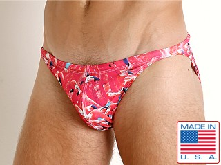 LASC Super Low Rise Swim Brief Pink Flamigo