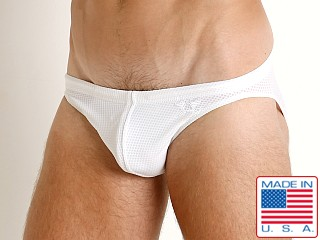 LASC St. Tropez Mesh Low Rise Swim Brief White