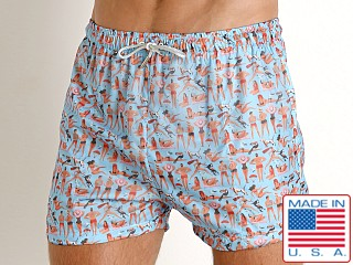 Model in beach people LASC Parachute Poly Swim Boxer