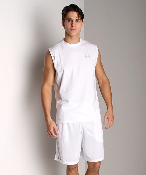 Under Armour UA Charged Cotton Sleeveless T White