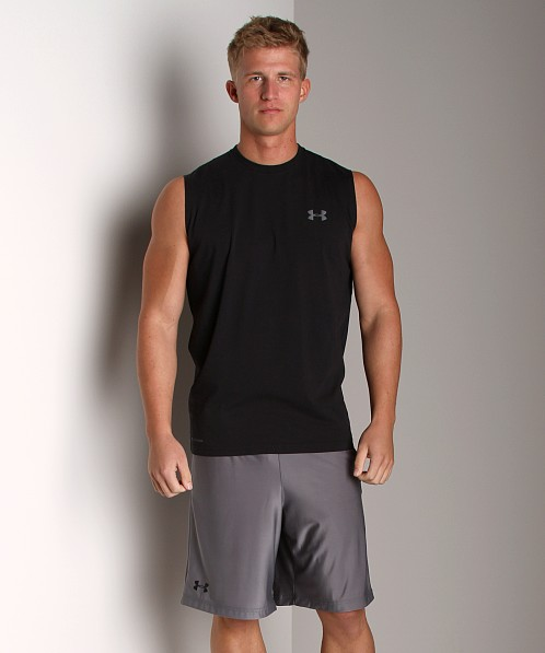 Under Armour UA Charged Cotton Sleeveless T Black