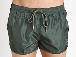 Private Structure Hi-Sheen Running Shorts Army Green