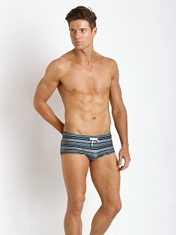 Parke and Ronen Corcovado Print Swim Brief Lenox Olive