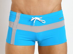 Parke and Ronen Ibiza Cross Square Cut Turquoise/Sliver