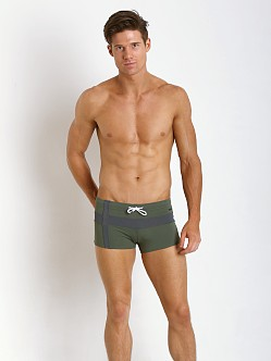 Parke and Ronen Ibiza Cross Square Cut Olive/Anthracite