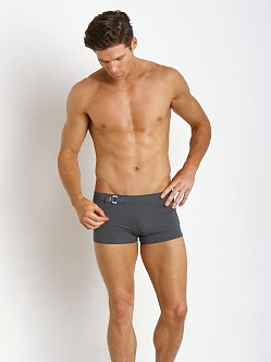 Parke and Ronen Ibiza D-Buckle Square Cut Solid Grey
