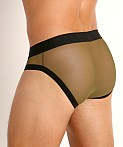 McKillop Max Bulge Ultra Stretch Mesh Brief Army, view 4