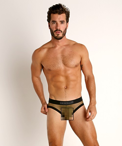 McKillop Max Bulge Ultra Stretch Mesh Brief Army