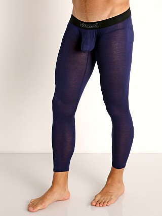 Model in navy McKillop Hoist Modal Long Johns