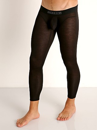 Model in black McKillop Hoist Modal Long Johns