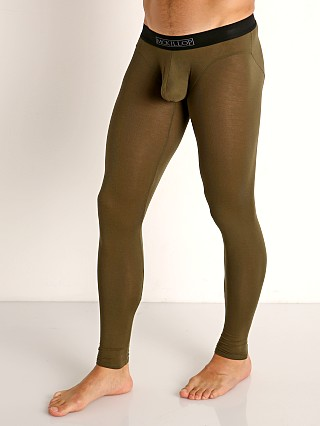 Model in army McKillop Hoist Modal Long Johns