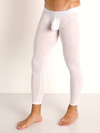 Model in white McKillop Hoist Modal Long Johns