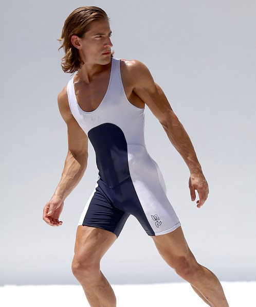 Rufskin Havok Anatomic Sport Singlet Navy/White