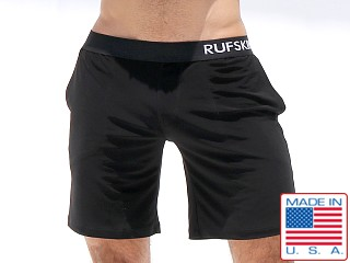Rufskin Mudra Stretch Jersey Yoga Shorts Black
