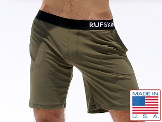 Rufskin Mudra Stretch Jersey Yoga Shorts Olive