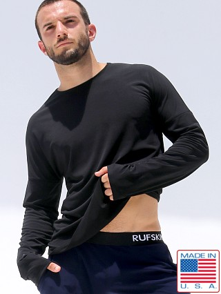 Rufskin Bhakti Stretch Jersey Long Sleeve Shirt Black