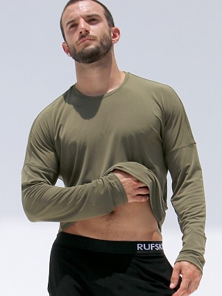 Rufskin Bhakti Stretch Jersey Long Sleeve Shirt Olive