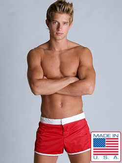 LASC Sixties Mesh Trunk Red
