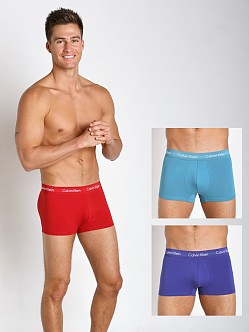 Calvin Klein Cotton Stretch 3-Pack Trunk Tanzinite/Odyssey/Red