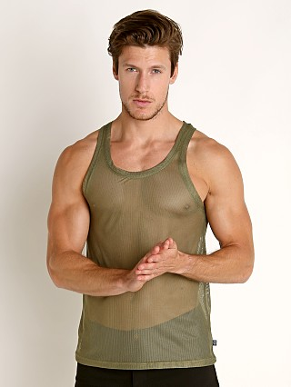 Timoteo Chelsea Mesh Tank Top Army