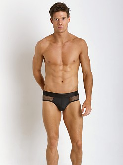 Candyman Mesh Butt Booster Brief Black