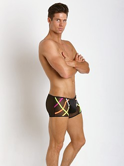 Candyman Neon Bands Sheer Boxer Black