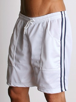LASC Mesh Sports Shorts White