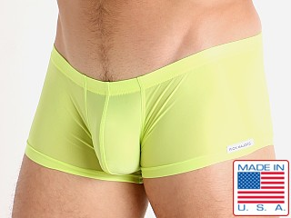 Model in lemon lime Rick Majors Slinky Trunk