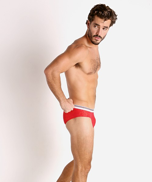 Rick Majors Burnout Hip Brief Red