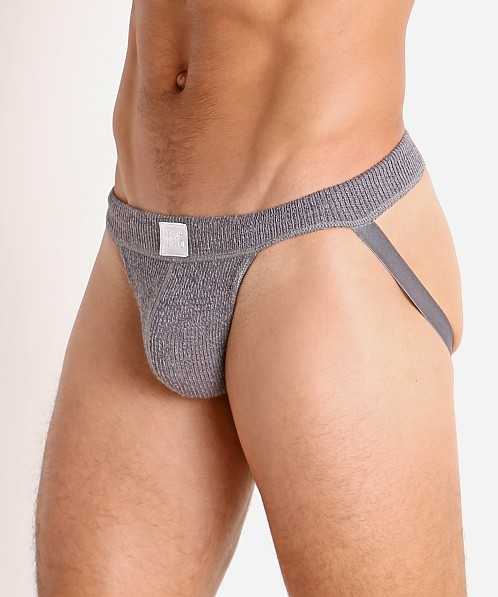 Modus Vivendi Smooth Knit Classic Jockstrap Charcoal Grey
