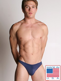 LASC Men's Lycra Swim Thong Navy