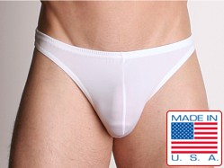 LASC Men's Lycra Swim Thong White