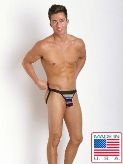 N2N Bodywear California Dreamin' Jock Purple Stripes
