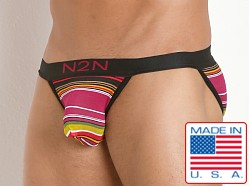 N2N Bodywear California Dreamin' Sports Brief Pink Stripes