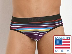 N2N Bodywear California Dreamin' Brief Purple Stripes