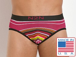 N2N Bodywear California Dreamin' Brief Pink Stripes
