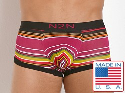 N2N Bodywear California Dreamin' Trunk Pink Stripes