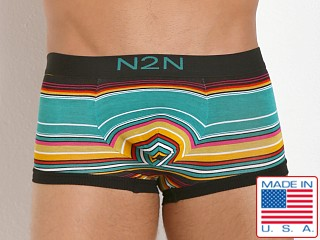 N2N Bodywear California Dreamin' Trunk Green Stripes