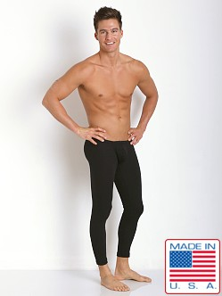 N2N Bodywear Cotton Rib Pouch Long John Runner Black