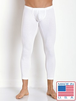 N2N Bodywear Cotton Rib Pouch Long John Runner White