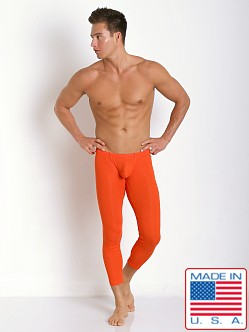 N2N Bodywear Cotton Rib Pouch Long John Runner Orange