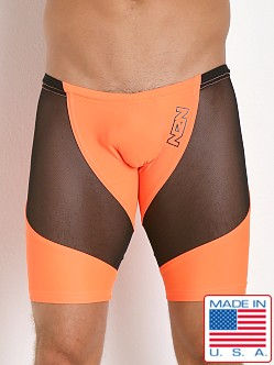 N2N Bodywear Sheer Skin Biker Neon Orange