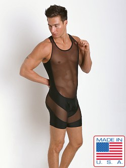 N2N Bodywear Sheer Skin Singlet Black