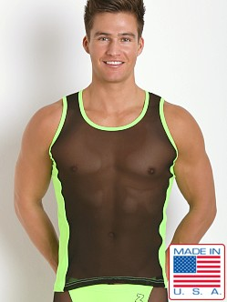 N2N Bodywear Sheer Skin Tank Top Neon Green