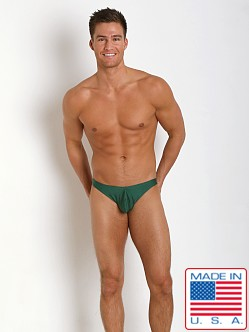 N2N Bodywear Power G Swim Thong Green