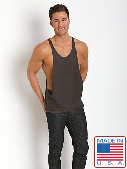 N2N Bodywear Gym Boy Tank Charcoal