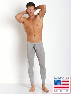 N2N Bodywear Cotton Sports Runner Tights Heather Grey
