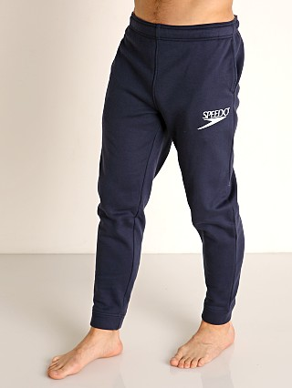Model in navy Speedo Vintage Logo Jogger Pant