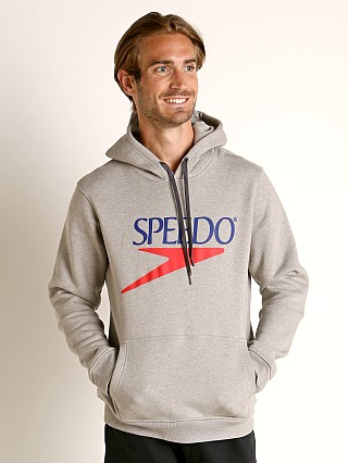 Model in heather Speedo Vintage Logo Hoodie