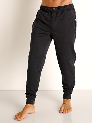 Model in black heather Speedo Male Relaxed Jogger Pant